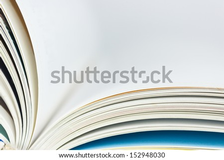 Image of a book with turning