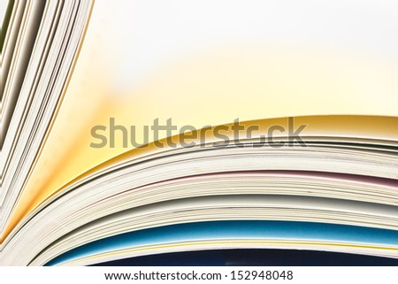 Image of a book with turning - stock photo