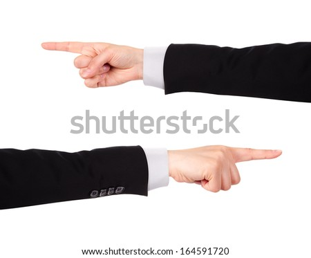 image of a Businessman's  finger pointing  or touching isolated