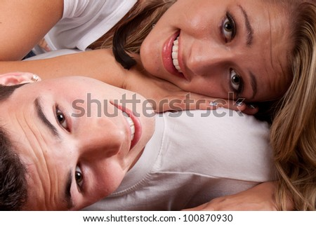 Image of a cute couple.