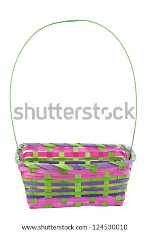Image Of A Empty Colorful Easter Basket