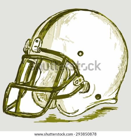 Image of a football helmet. Raster version - stock photo
