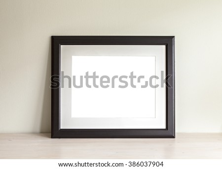 Image of a horizontal frame mockup scene.  - stock photo