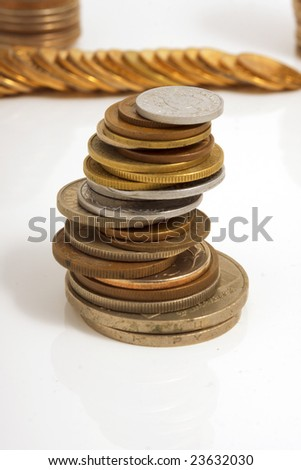 Image of a large number of coins