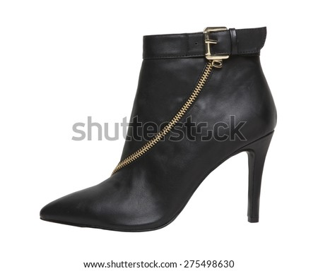 Image of a leather ankle boot  - stock photo
