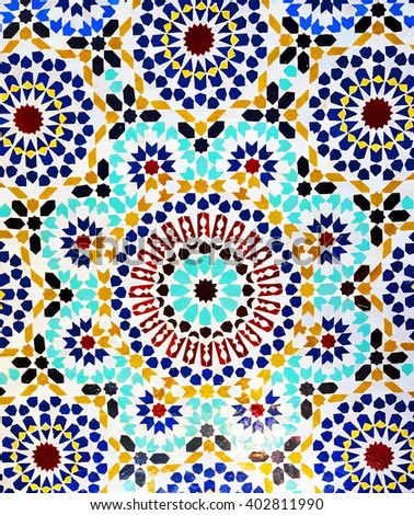 Image of a moroccan mosaic decoration - stock photo