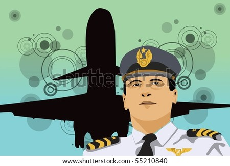 Image of a pilot who is flying his aircraft