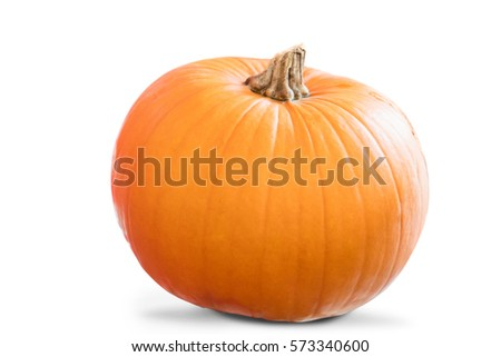 Image of a pumpkin on a white background