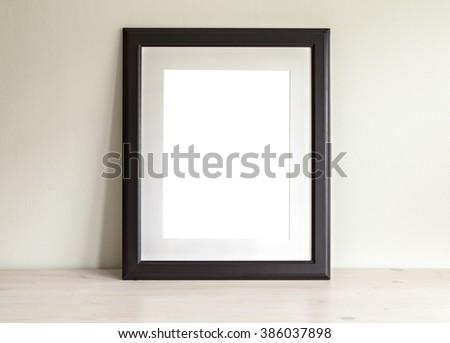 Image of a rectangular frame mockup scene. - stock photo