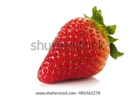 Image of a strawberry studio isolated on white background