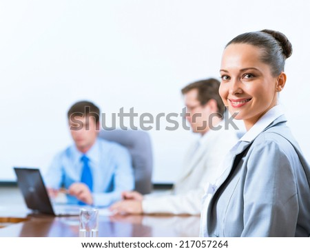 image of a successful beautiful business woman - stock photo