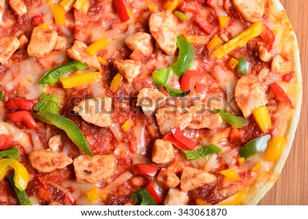 Image of a tasty bbq chicken pizza