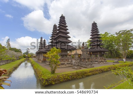Image of a temple known as Pura Taman Ayun at Bali, Indonesia.