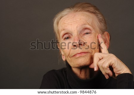 Image of a very confident Elderly Woman