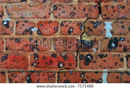 image very grunge cracked brick wall stock photo royalty free