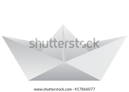 Image of a virtual origami on a white background