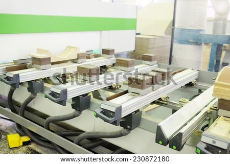 image of a woodworking factory - stock photo