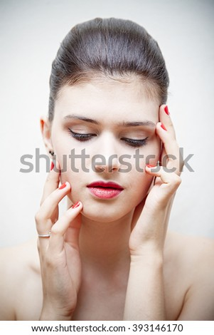 image of a young adult girl, fashion - stock photo