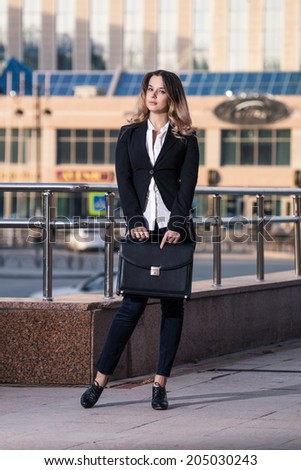 Image of a young businesswoman