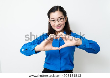 Image of a young woman with a lovely look and charming smile