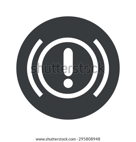 Image of alert sign in black circle, isolated on white - stock photo