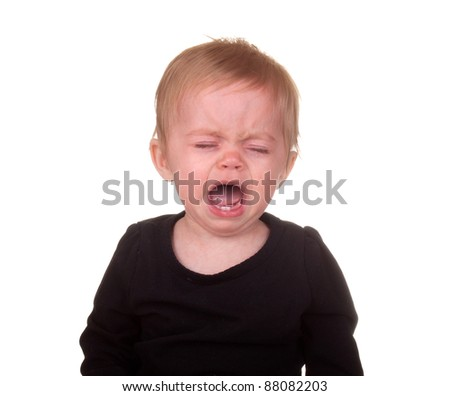 Image of an angry crying baby.