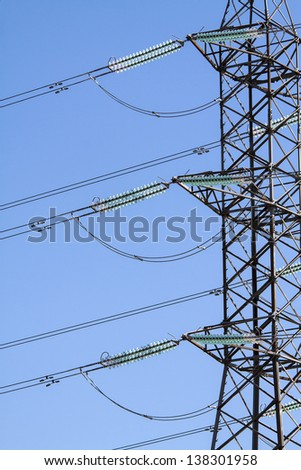 Image of an electric  pylon - stock photo