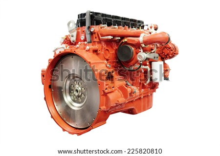 image of an engine isolated under the white background - stock photo