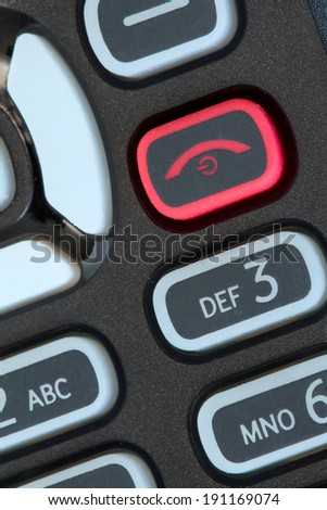 Image of an obsolete  mobile phone keypad  - stock photo