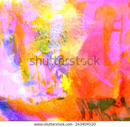 Image of an original Watercolor on Paper - stock photo