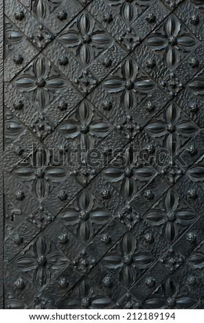 image of ancient doors - stock photo