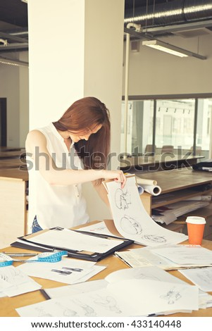 image of attractive young designer in process