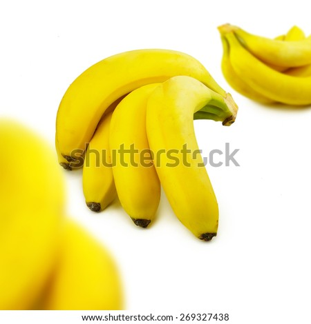 image of bananas on white background - stock photo