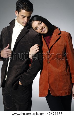 Image of beautiful fashion couple - stock photo
