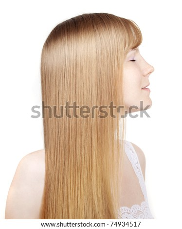 Image of beautiful girl with gorgeous hair
