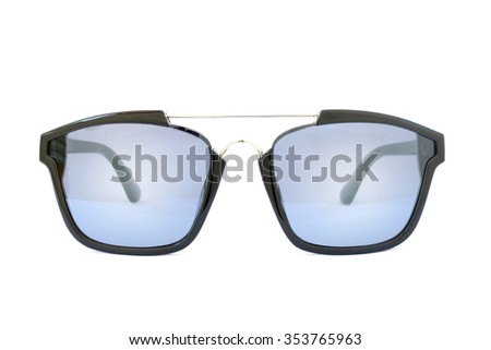Image of black glasses on a white background