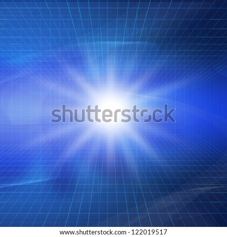 Image of blue material digital space