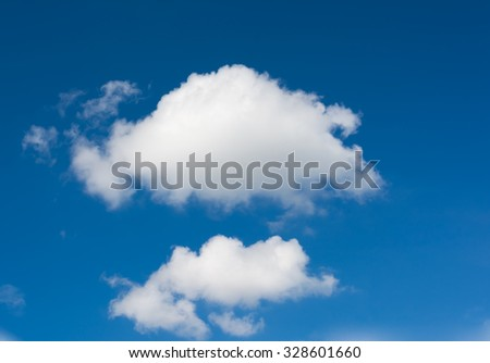 image of blue sky on day time for background.