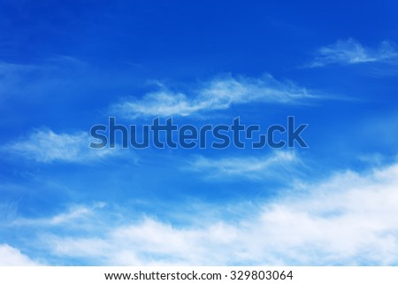 image of blue sky with white