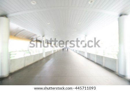 image of blur walk way with bokeh for background usage.