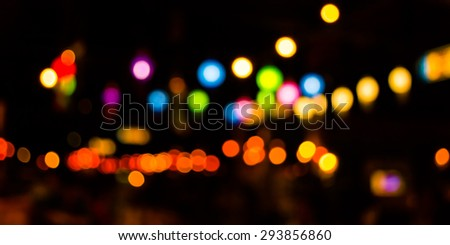 image of blurred bokeh background with warm colorful lights . - stock photo