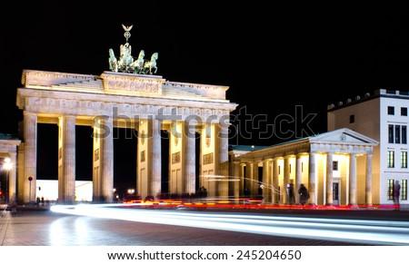 Image of Brandenburg gate in Berlin, Germany - stock photo