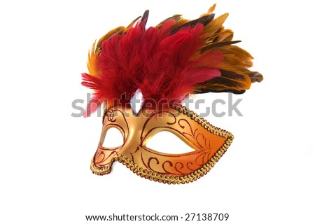 Image of bright fancy mask - stock photo