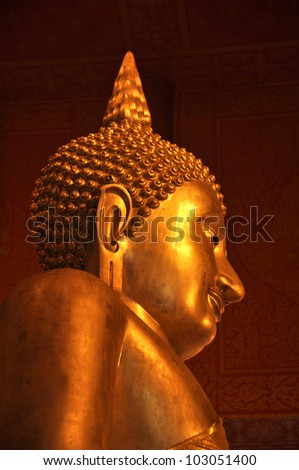 image of buddha. - stock photo