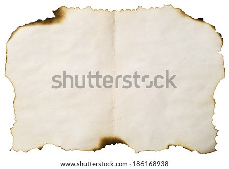 image of burnt paper for background - stock photo