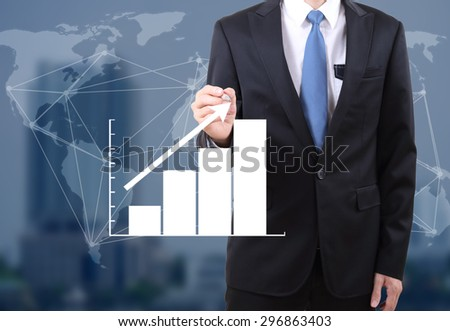 image of business man working at office