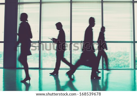 Image of businesspeople during the rush hour  - stock photo