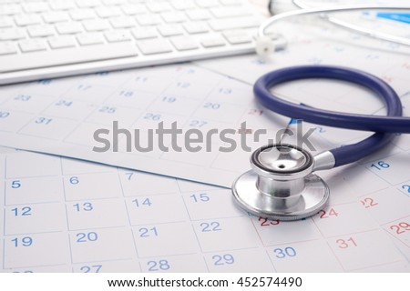 Image of Calendar And Stethoscope