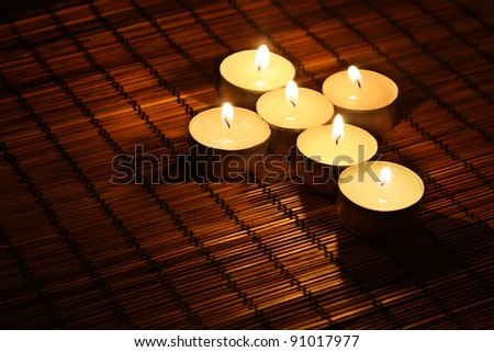 Image of candle cross - stock photo