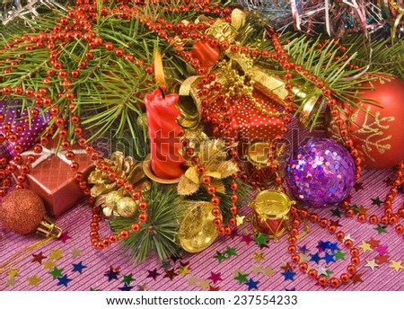 image of Christmas tree decorations
